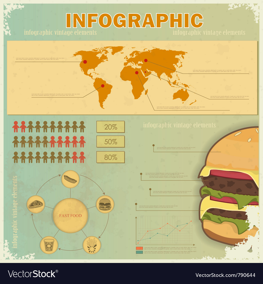 Vintage infographics vector | Price: 1 Credit (USD $1)