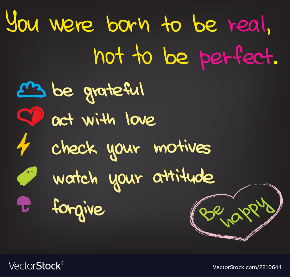 You were born to be real vector | Price: 1 Credit (USD $1)