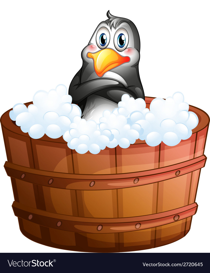A barrel with a penguin vector | Price: 1 Credit (USD $1)