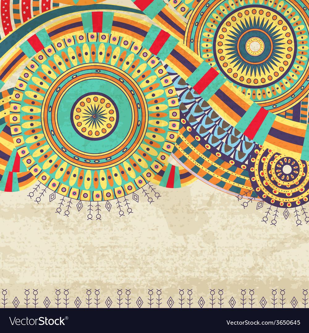 Attractive ethnic background design vector | Price: 1 Credit (USD $1)