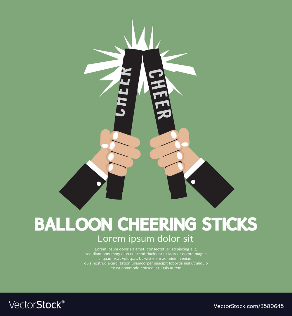 Balloon cheering sticks vector | Price: 1 Credit (USD $1)