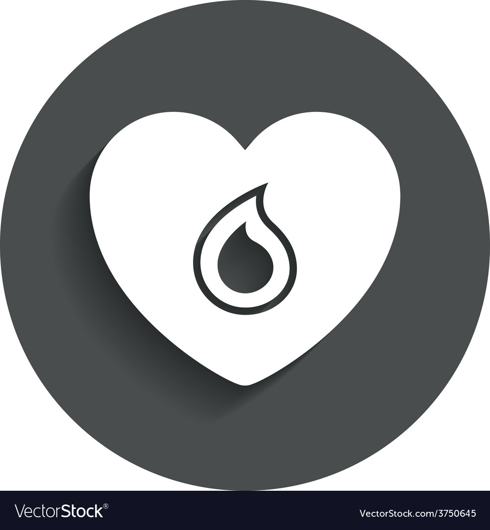 Blood donation sign icon medical donation vector | Price: 1 Credit (USD $1)