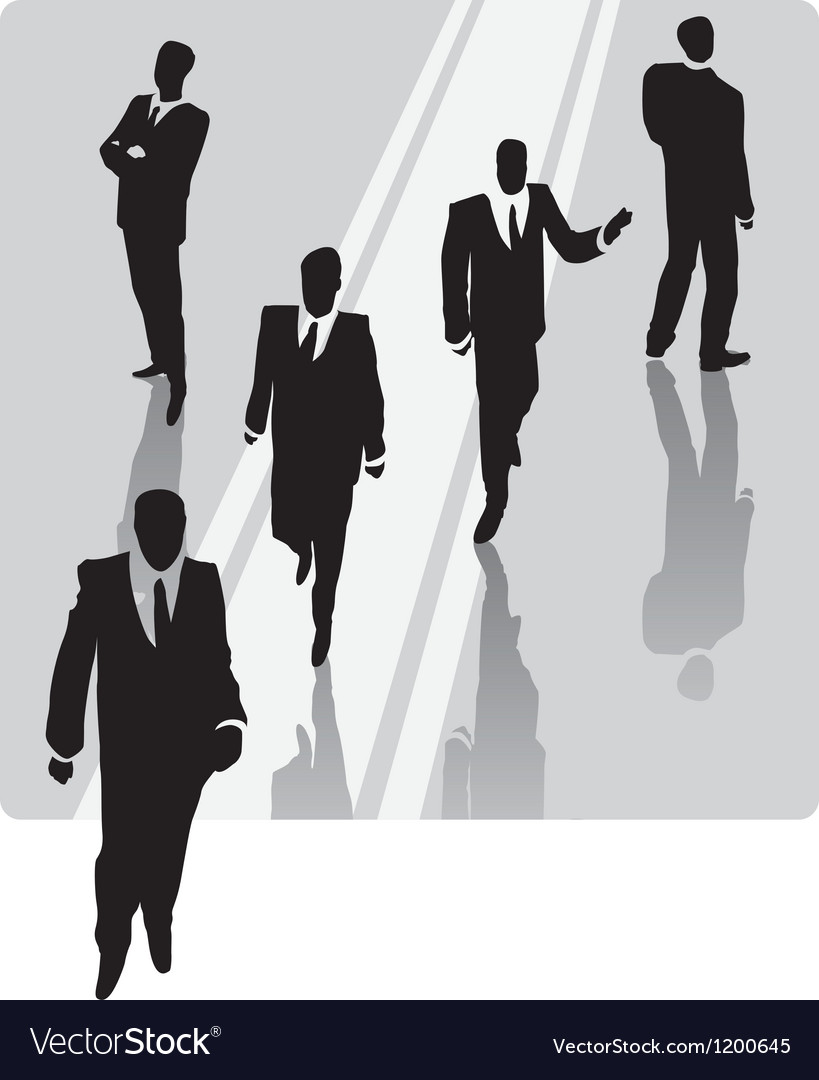 Businessman with security team vector | Price: 1 Credit (USD $1)
