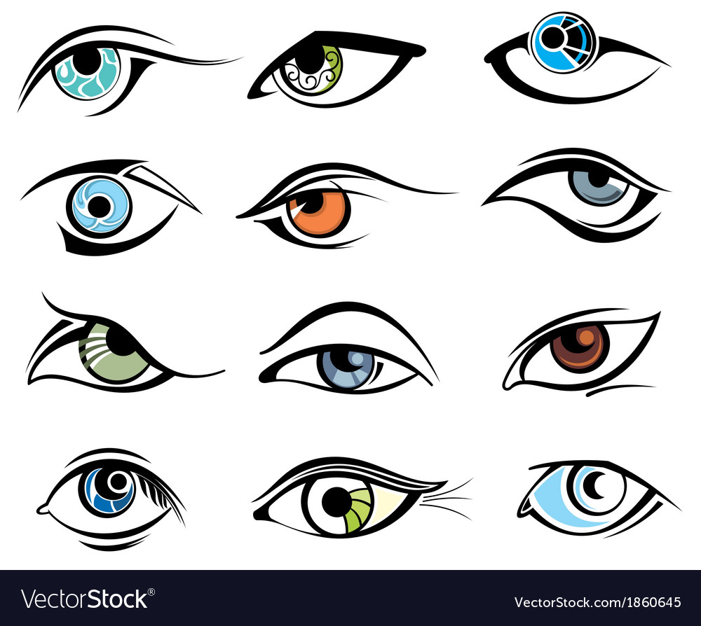 Eye designs vector | Price: 1 Credit (USD $1)