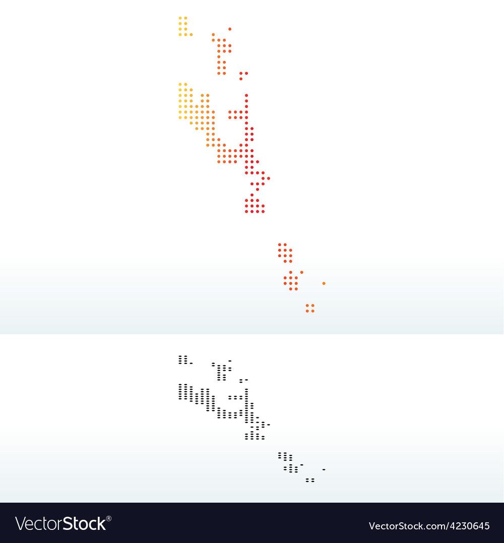 Republic of vanuatu with dot pattern vector | Price: 1 Credit (USD $1)