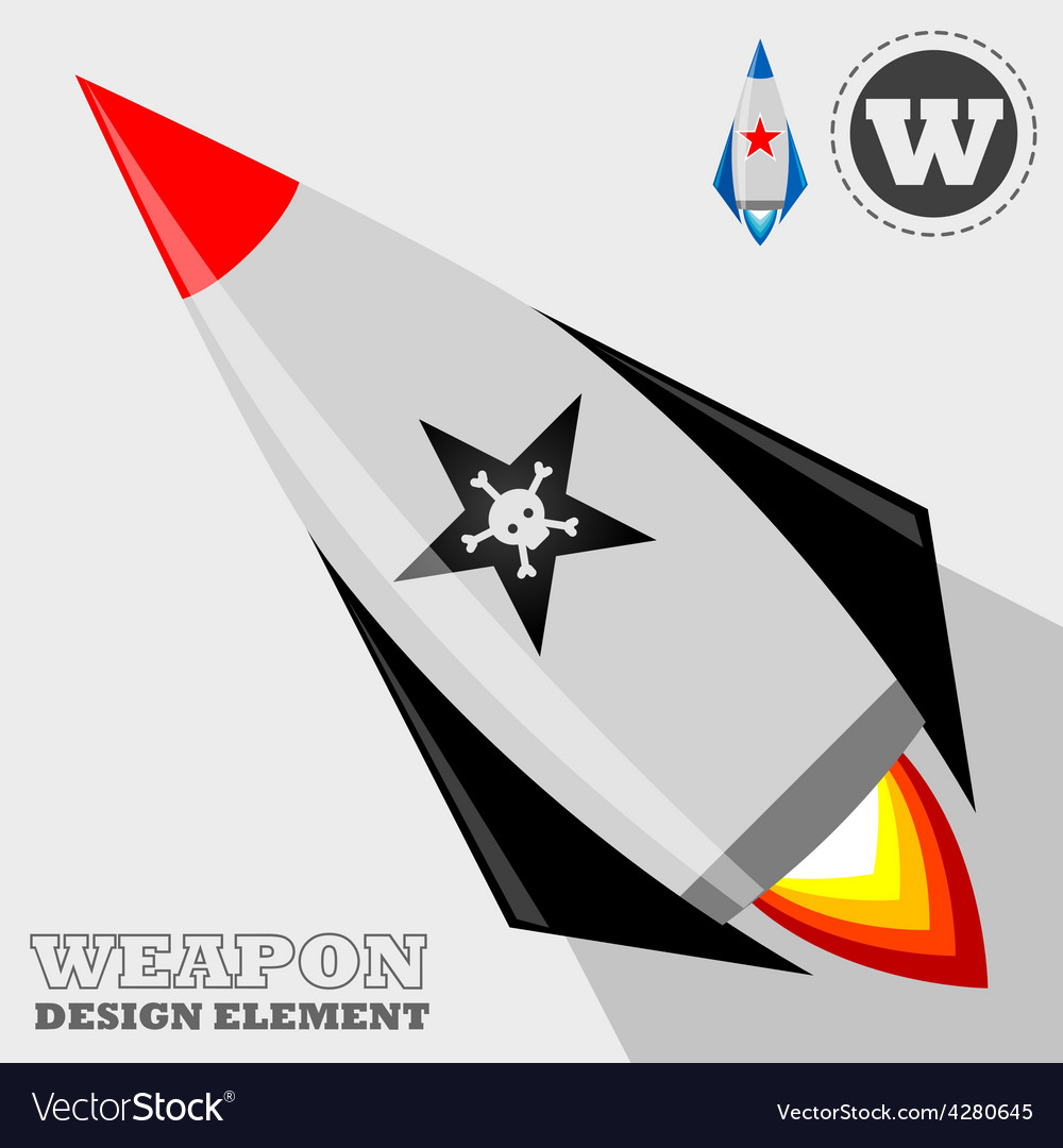 Rocket design element vector