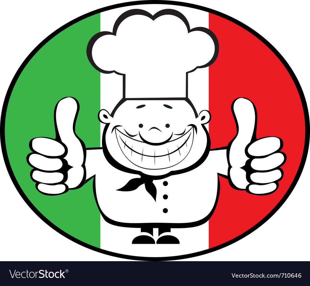 Cartoon smiling chef vector | Price: 1 Credit (USD $1)