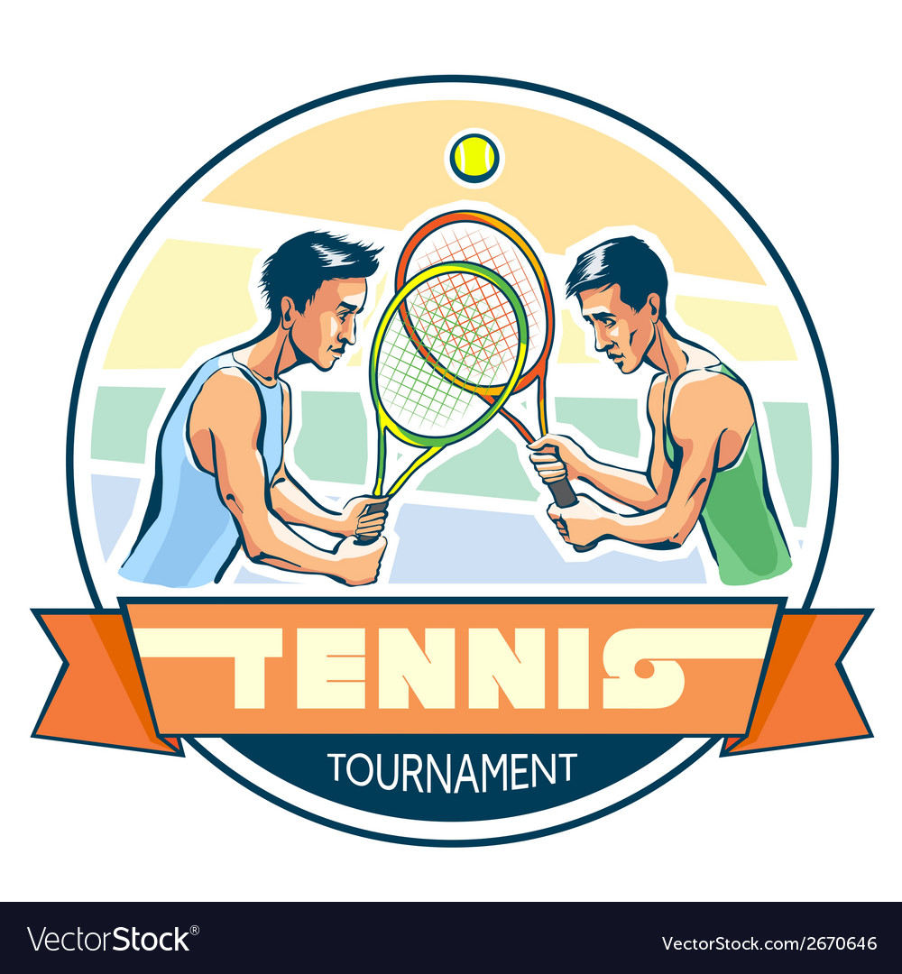 Emblem of tennis tournament vector | Price: 1 Credit (USD $1)