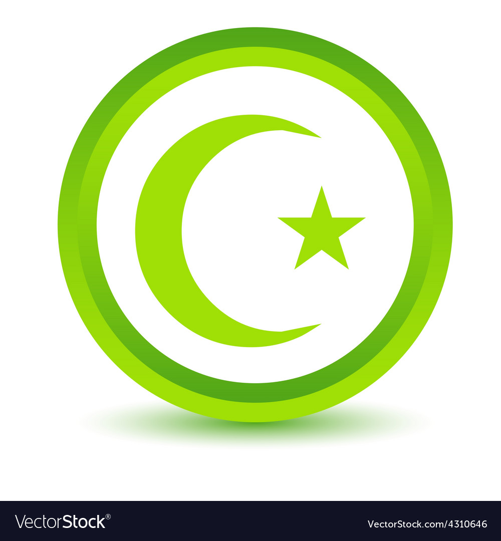 Green islam icon vector | Price: 1 Credit (USD $1)