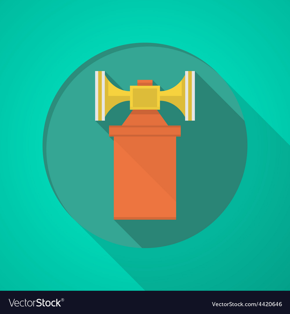 Orange air horn flat icon vector | Price: 1 Credit (USD $1)