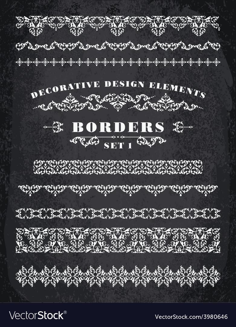 Ornaments borders decorative design elements vector   Price: 1 Credit (USD $1)