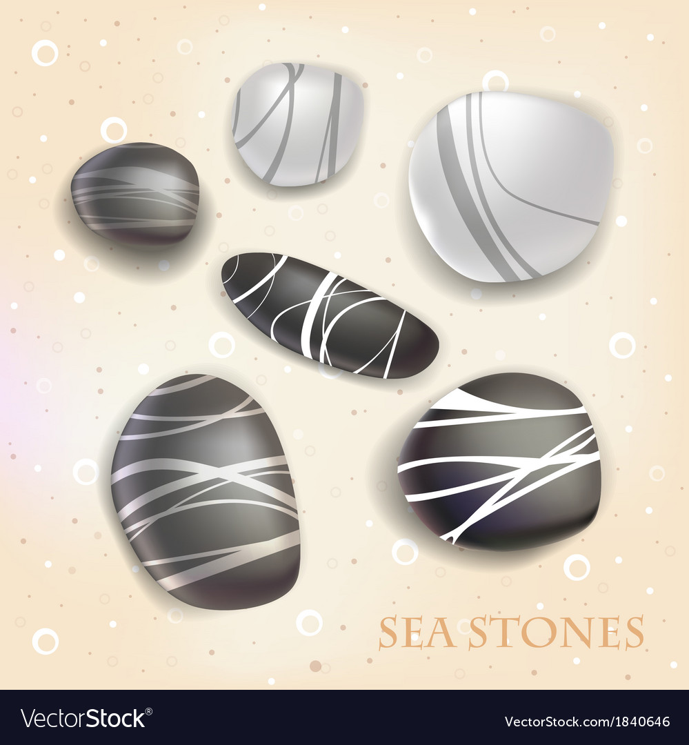 Sea stones vector | Price: 1 Credit (USD $1)