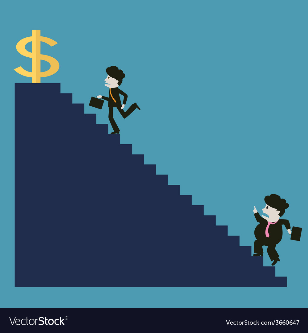 Businessman is successful while the competitor vector | Price: 1 Credit (USD $1)