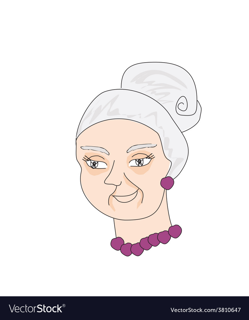 Portrait of an old lady vector | Price: 1 Credit (USD $1)