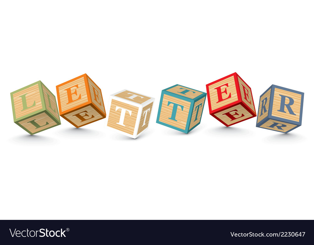 Word letter written with alphabet blocks vector | Price: 1 Credit (USD $1)