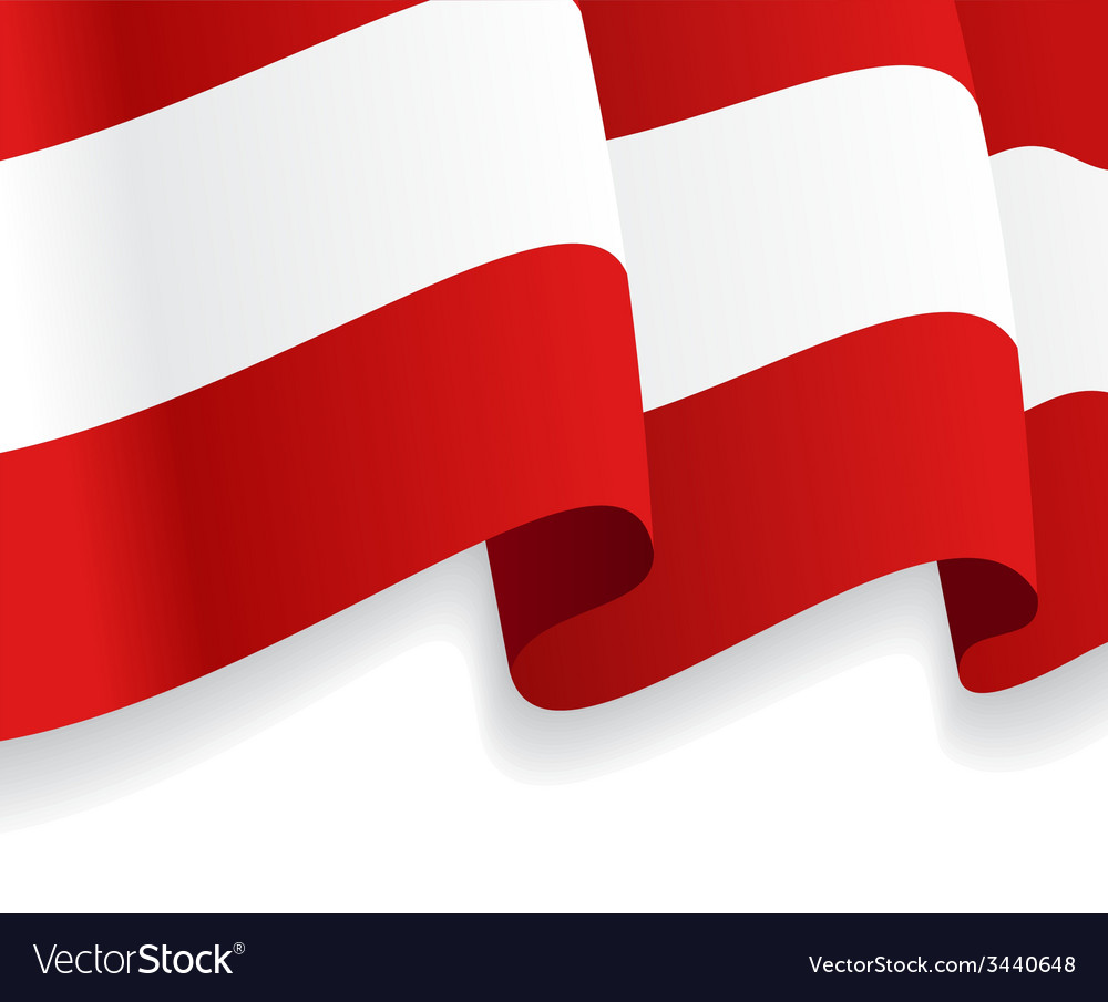 Background with waving austria flag vector | Price: 1 Credit (USD $1)