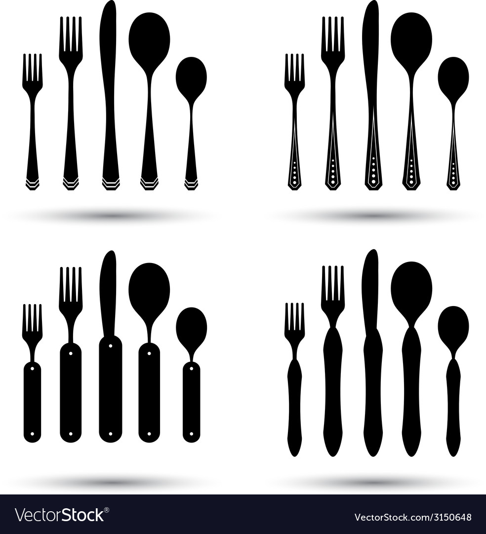Cutlery set vector | Price: 1 Credit (USD $1)