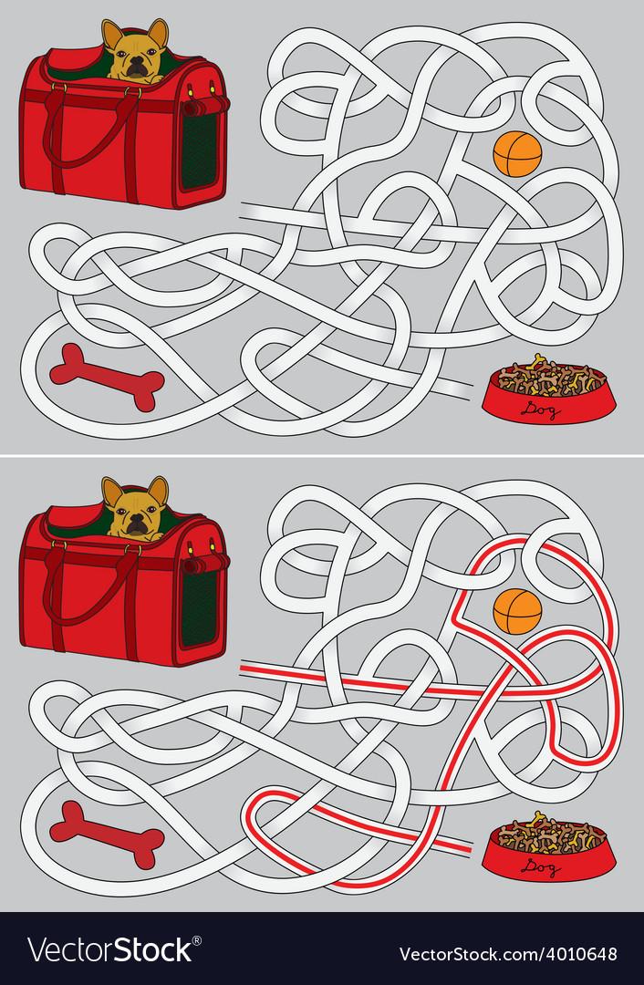 Dog maze vector | Price: 1 Credit (USD $1)