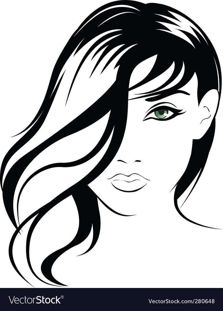 Female portrait vector | Price: 1 Credit (USD $1)