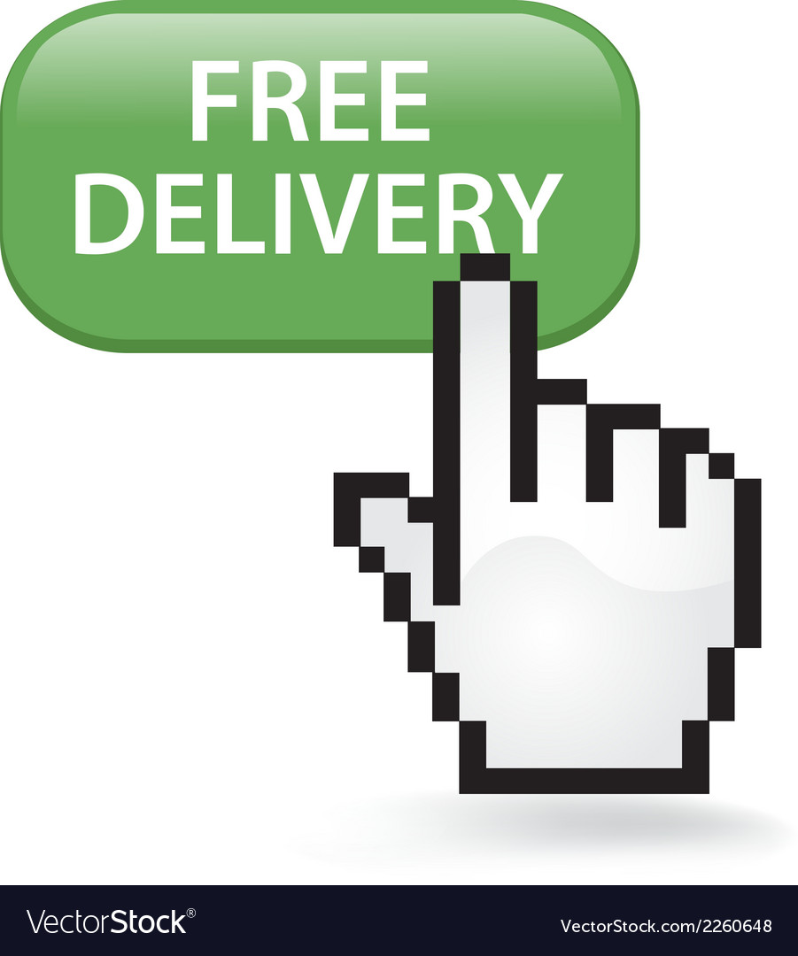 Free delivery button vector | Price: 1 Credit (USD $1)