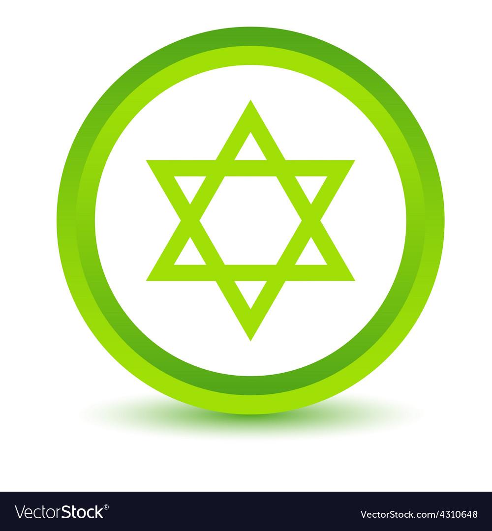 Green judaism icon vector | Price: 1 Credit (USD $1)