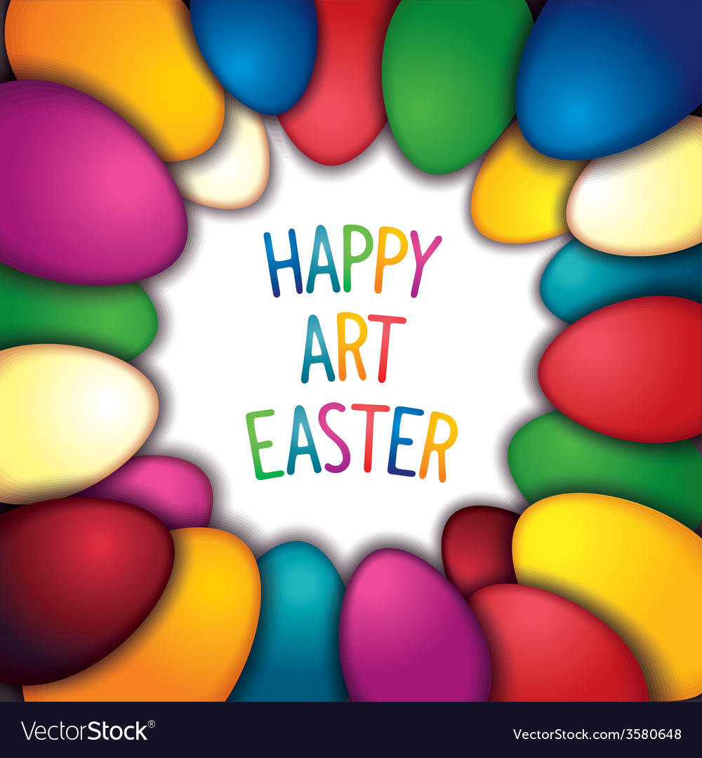 Happy easter background vector | Price: 1 Credit (USD $1)