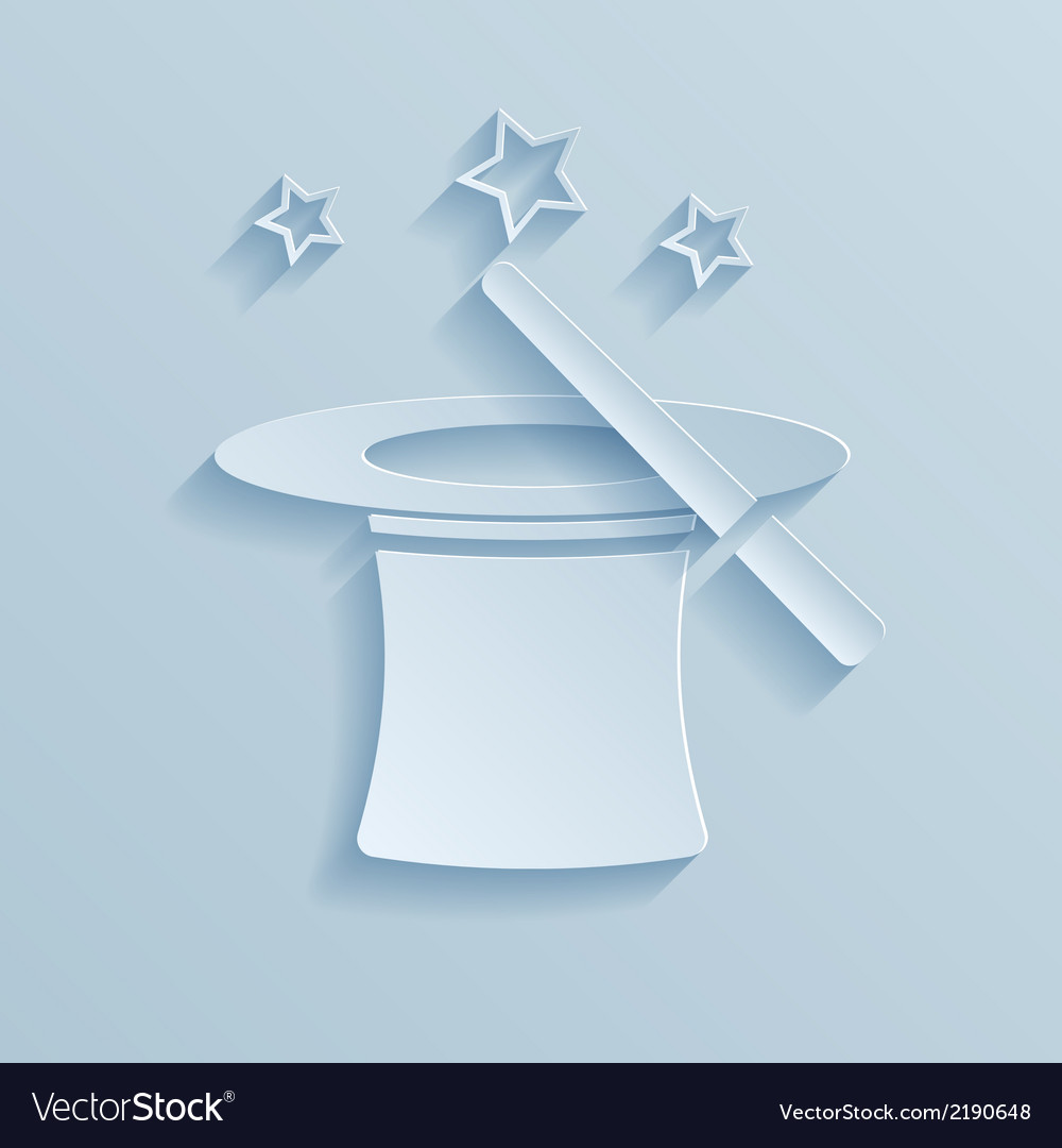 Hat of the conjurer paper icon vector | Price: 1 Credit (USD $1)