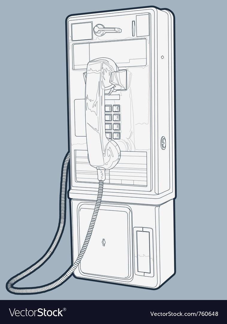 Public phone line vector | Price: 1 Credit (USD $1)