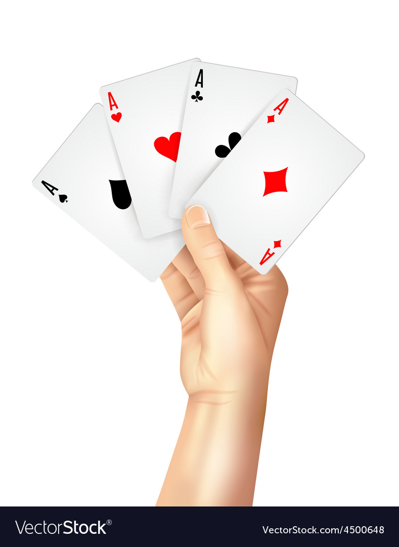 Regular playing cards spread holding hand vector | Price: 1 Credit (USD $1)