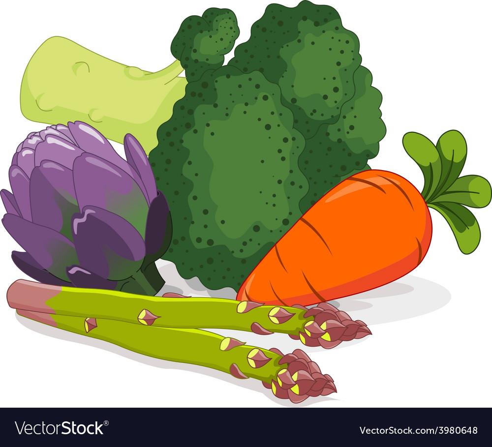Set of vegetables vector | Price: 1 Credit (USD $1)