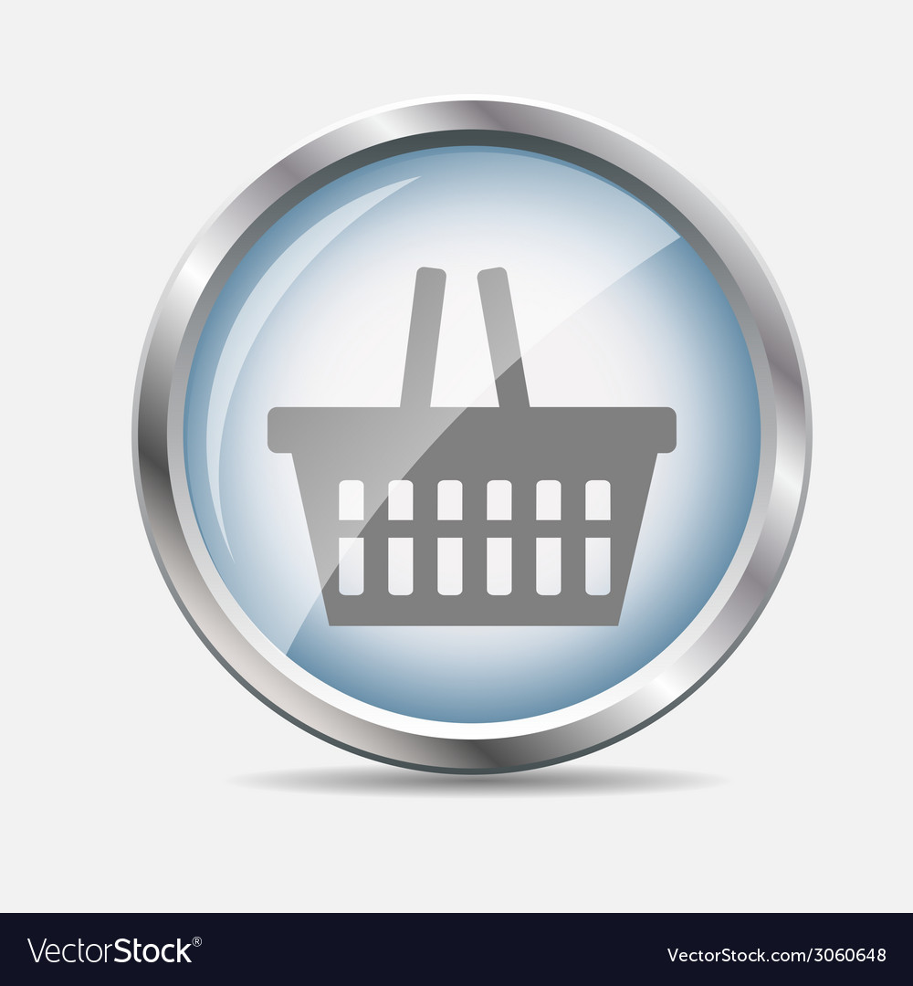 Shopping glossy icon vector | Price: 1 Credit (USD $1)