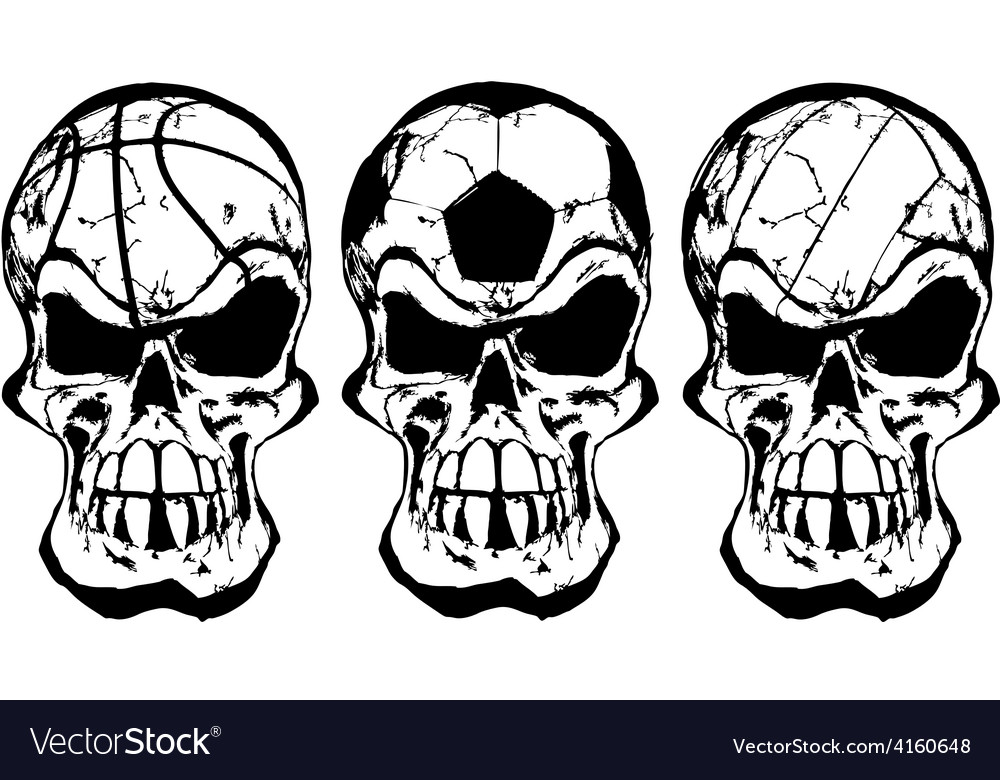 Skull ball sports vector | Price: 1 Credit (USD $1)