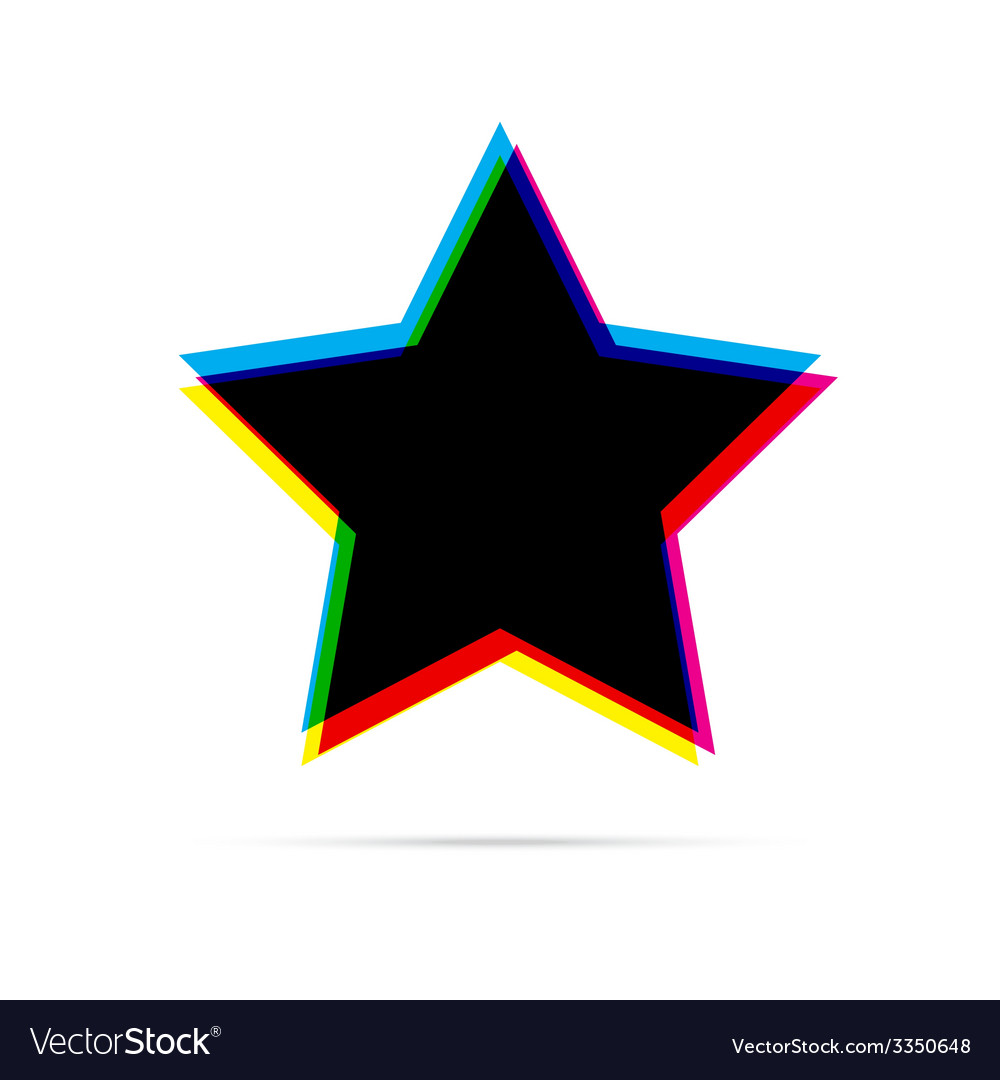 Star flat icon with shadow vector | Price: 1 Credit (USD $1)