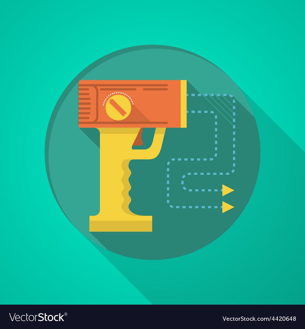 Stun gun flat color icon vector | Price: 1 Credit (USD $1)
