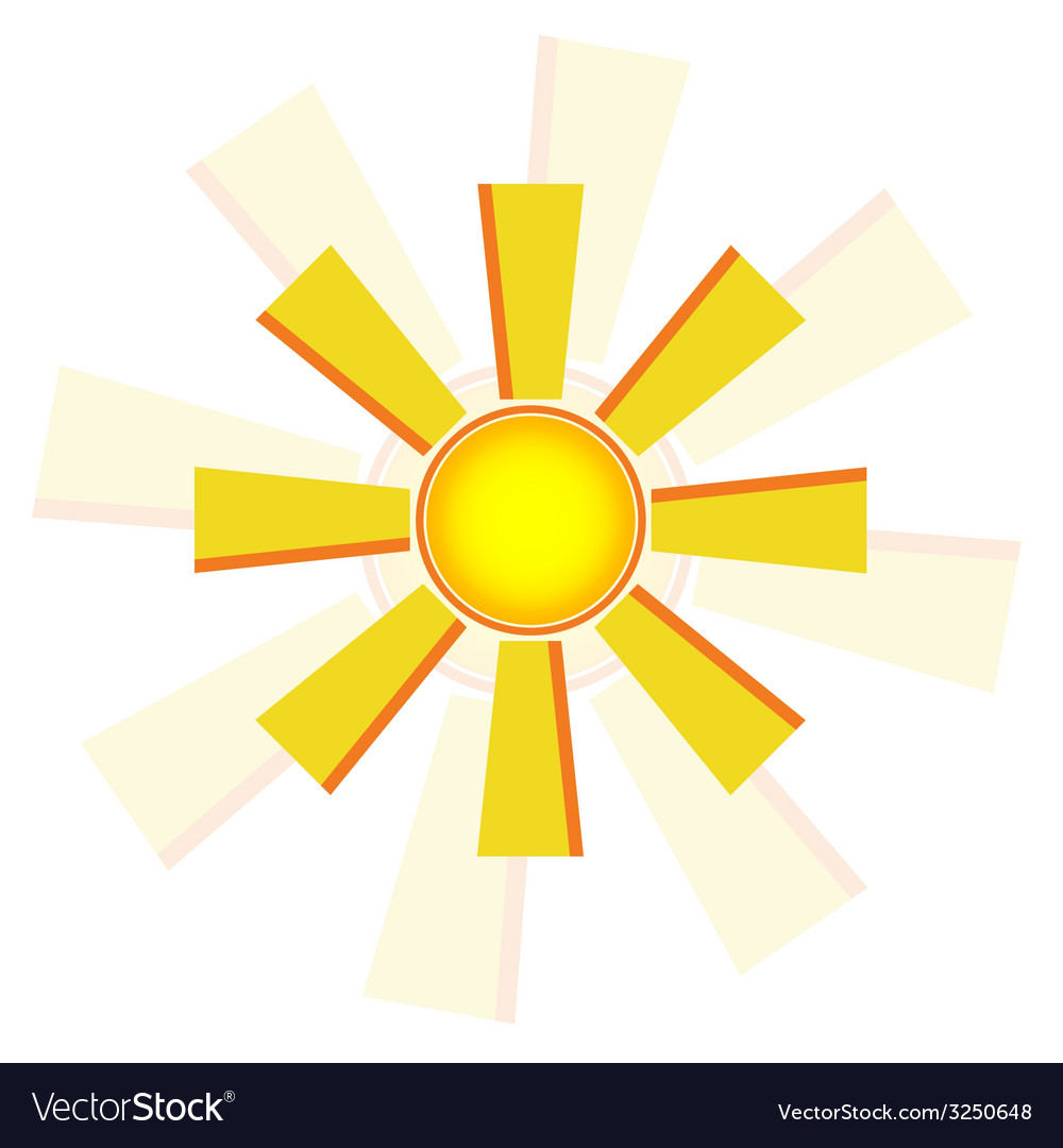 Windmill sun vector   Price: 1 Credit (USD $1)