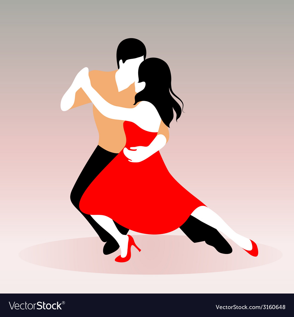 Young couple dancing vector   Price: 1 Credit (USD $1)