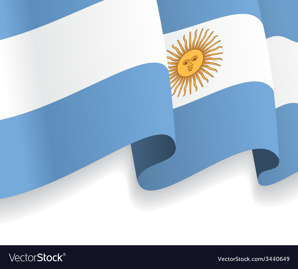 Background with waving argentine flag vector | Price: 1 Credit (USD $1)