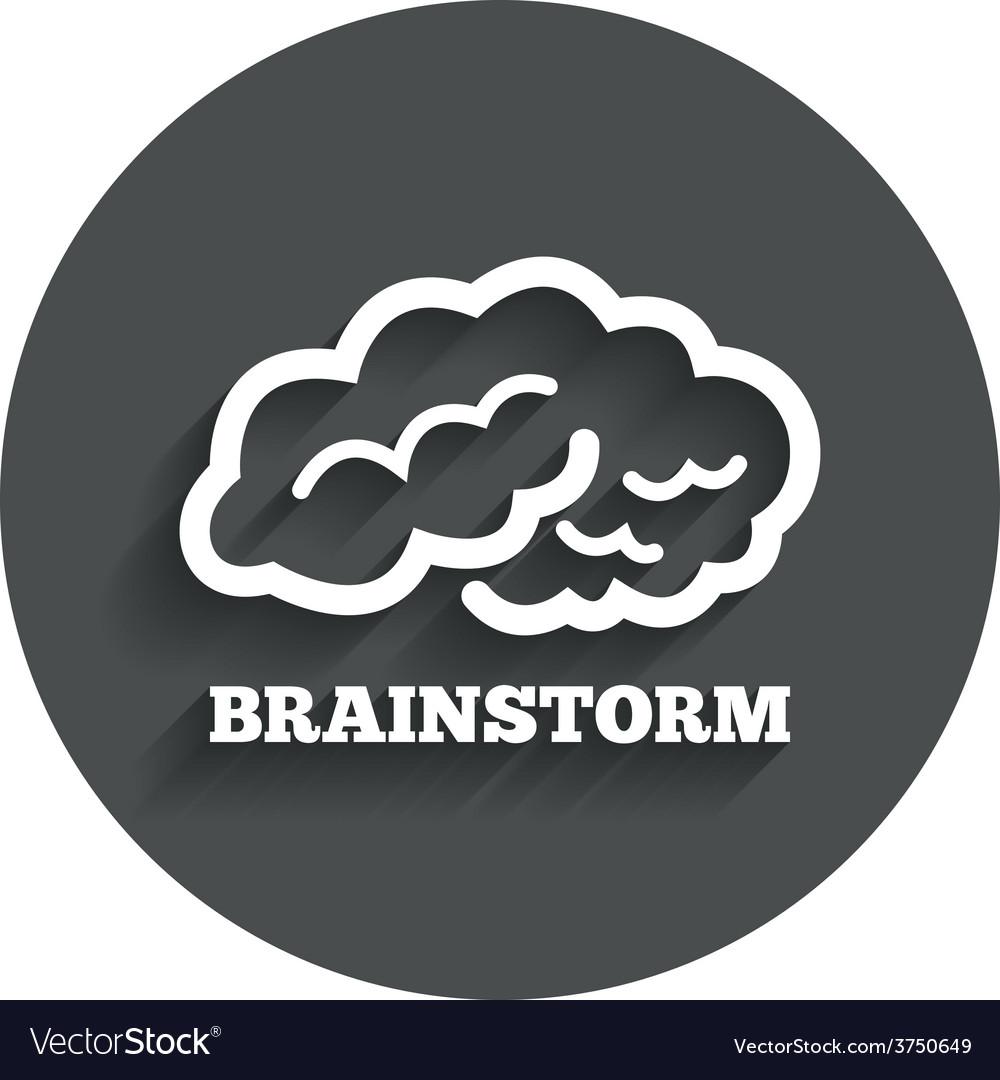 Brainstorm sign icon intelligent smart mind vector | Price: 1 Credit (USD $1)