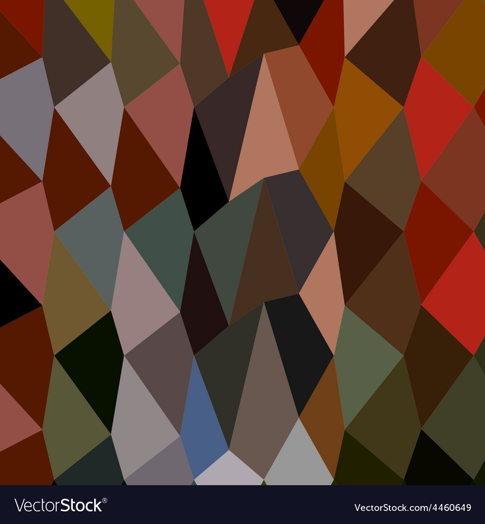 Burnt umber abstract low polygon background vector | Price: 1 Credit (USD $1)