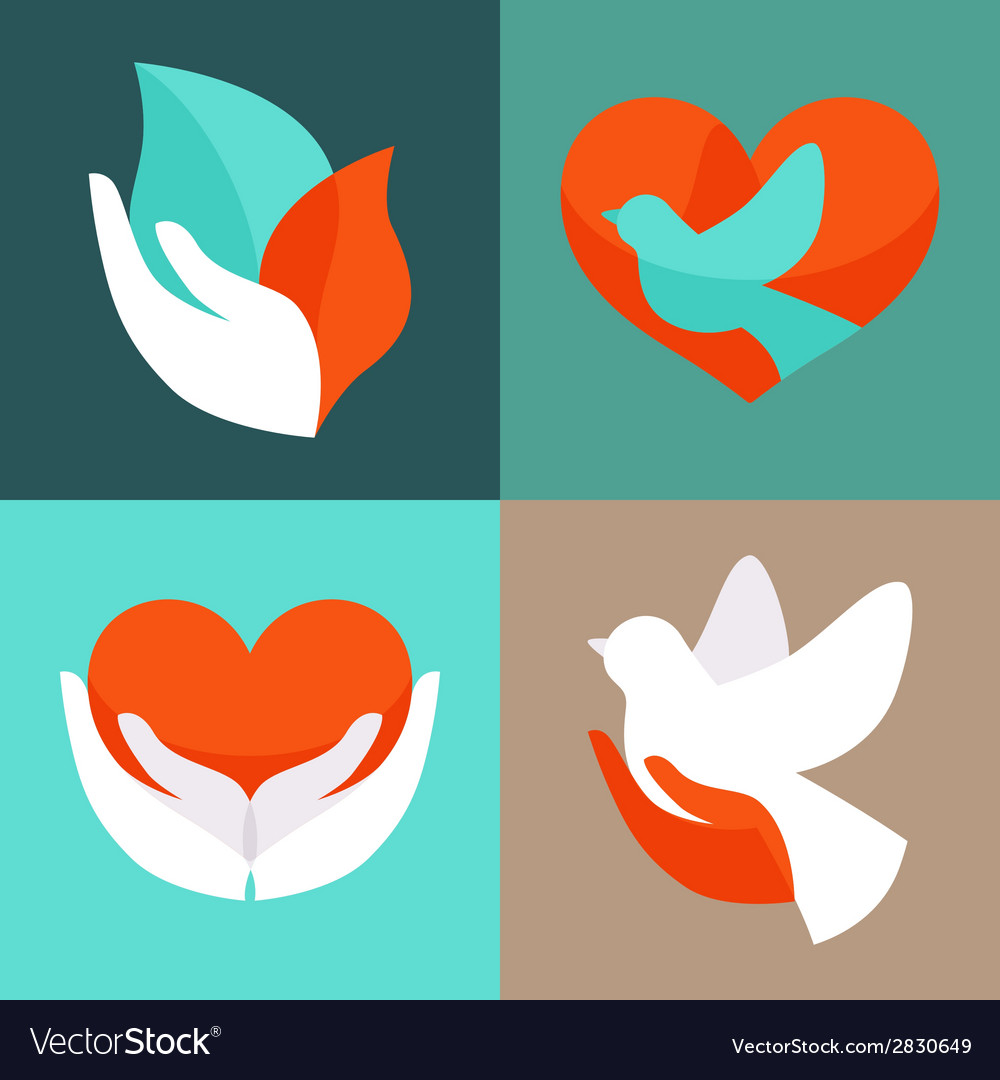 Charity emblems vector | Price: 1 Credit (USD $1)
