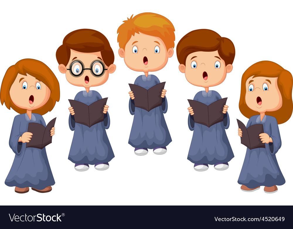 Children choir vector | Price: 3 Credit (USD $3)