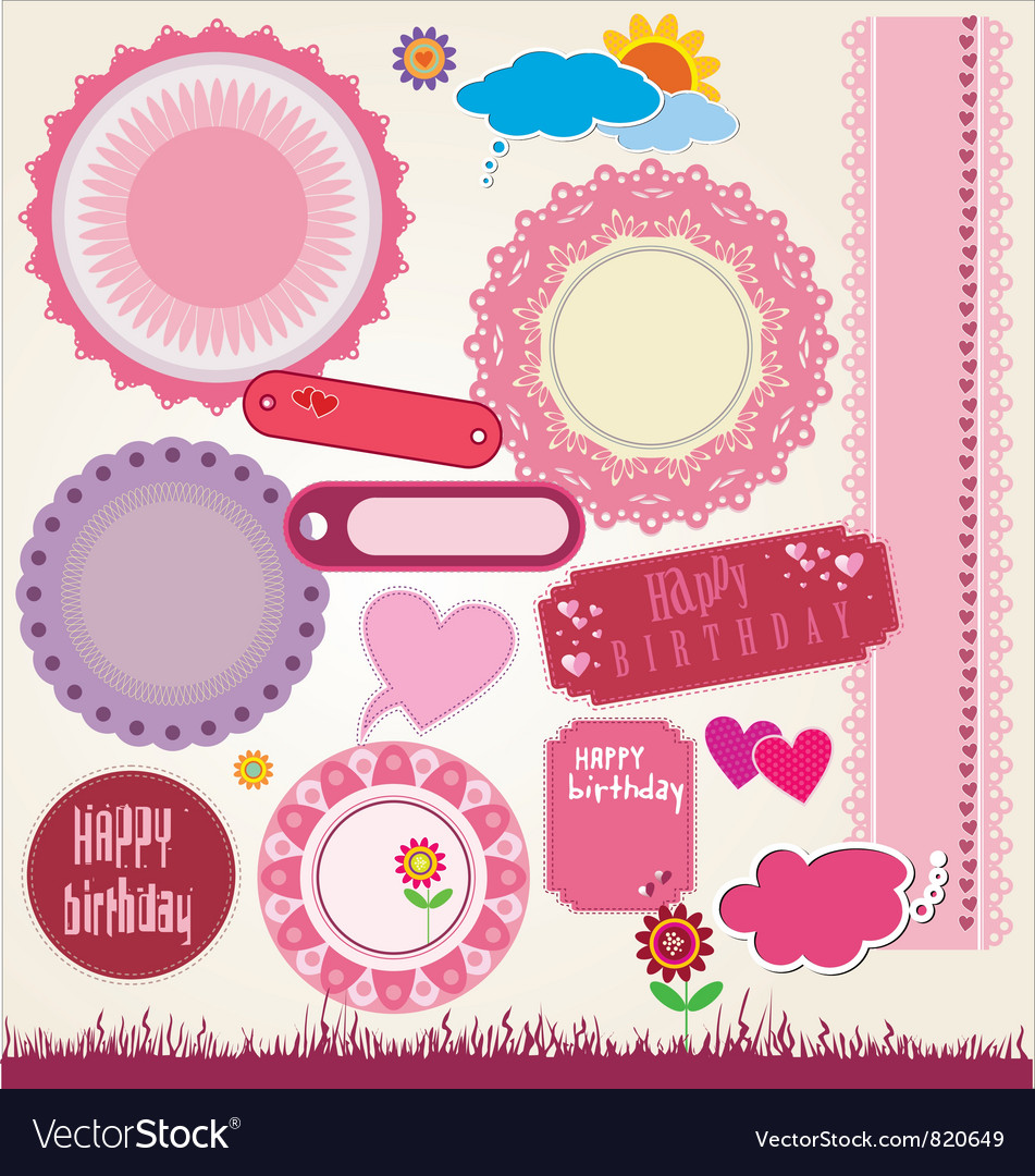 Elements for scrapbooking vector | Price: 1 Credit (USD $1)