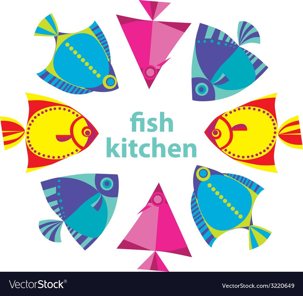 Fish kitchen vector | Price: 1 Credit (USD $1)