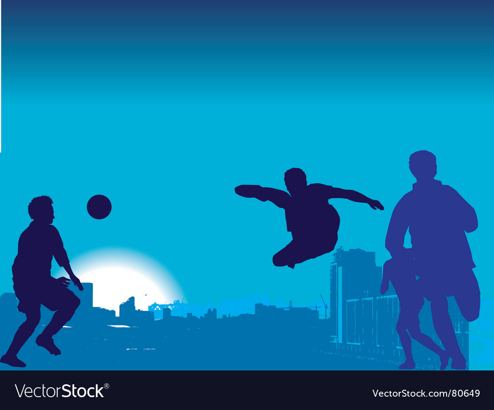 Football game nighttime vector | Price: 1 Credit (USD $1)