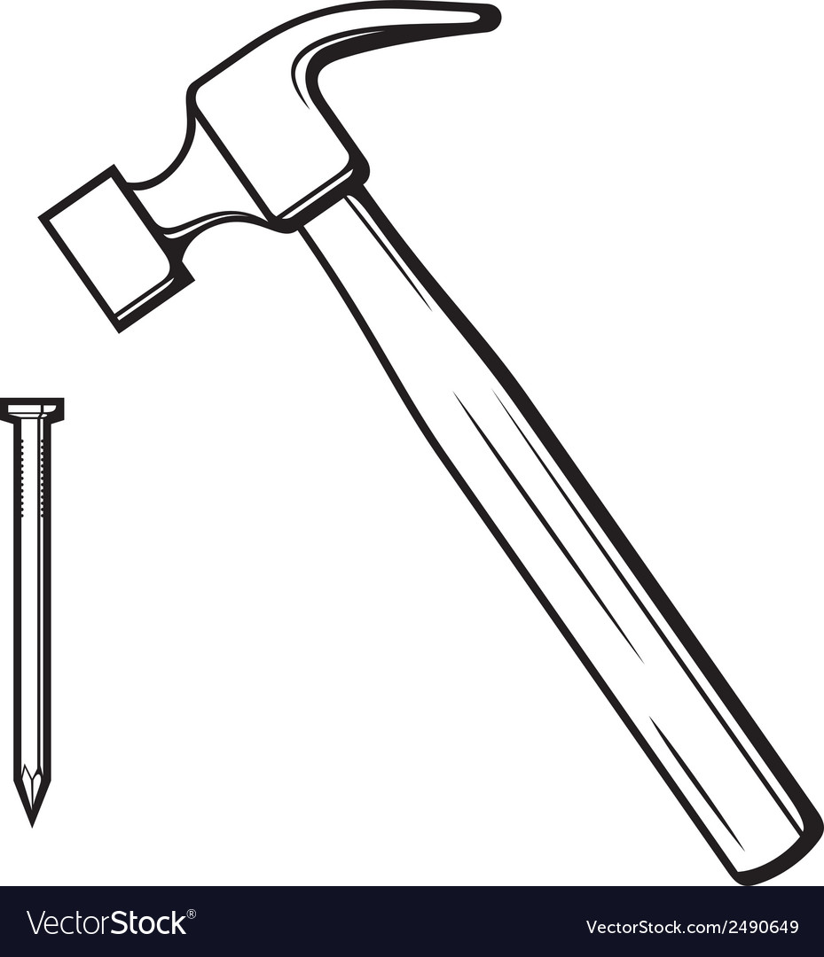 Hammer and nail vector | Price: 1 Credit (USD $1)