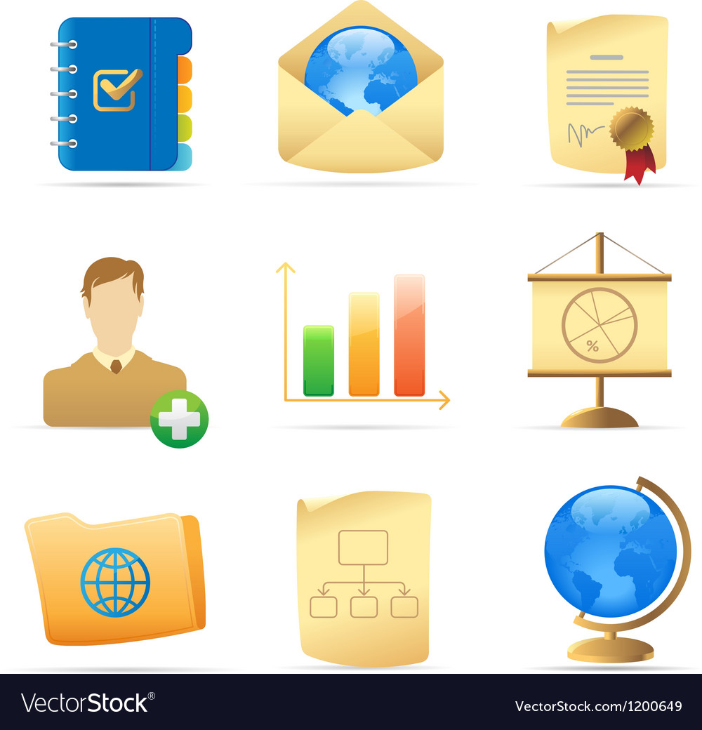 Icons for business metaphor vector | Price: 1 Credit (USD $1)