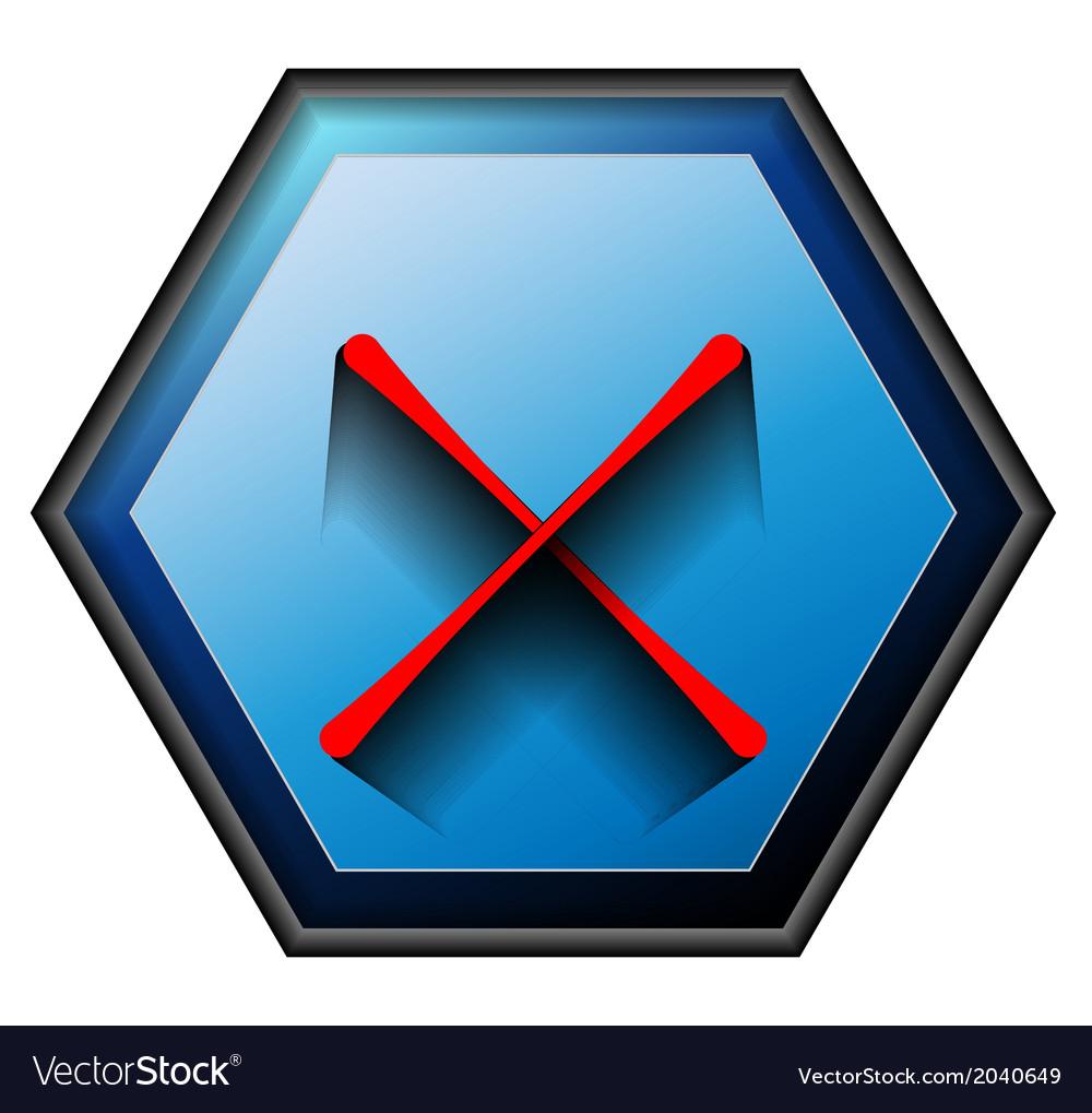Non button vector | Price: 1 Credit (USD $1)