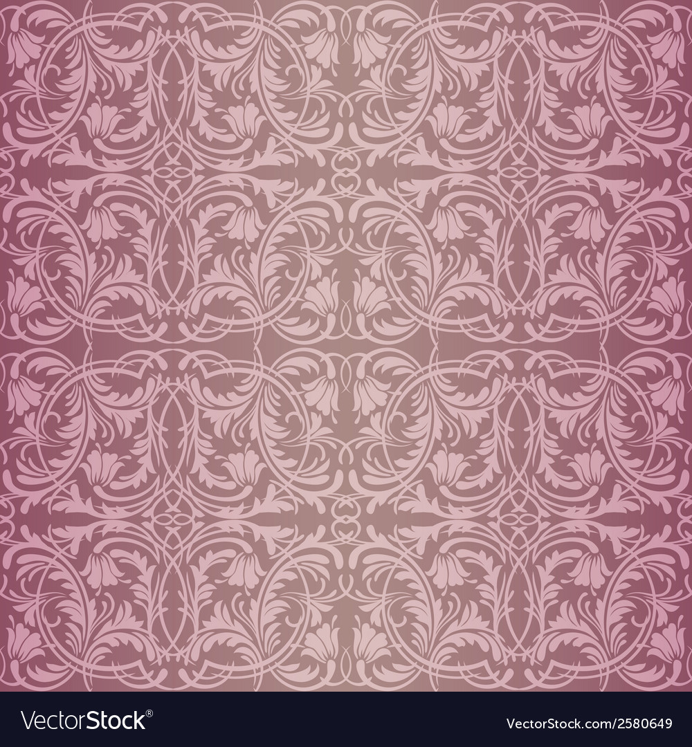 Pink baroque pattern vector | Price: 1 Credit (USD $1)