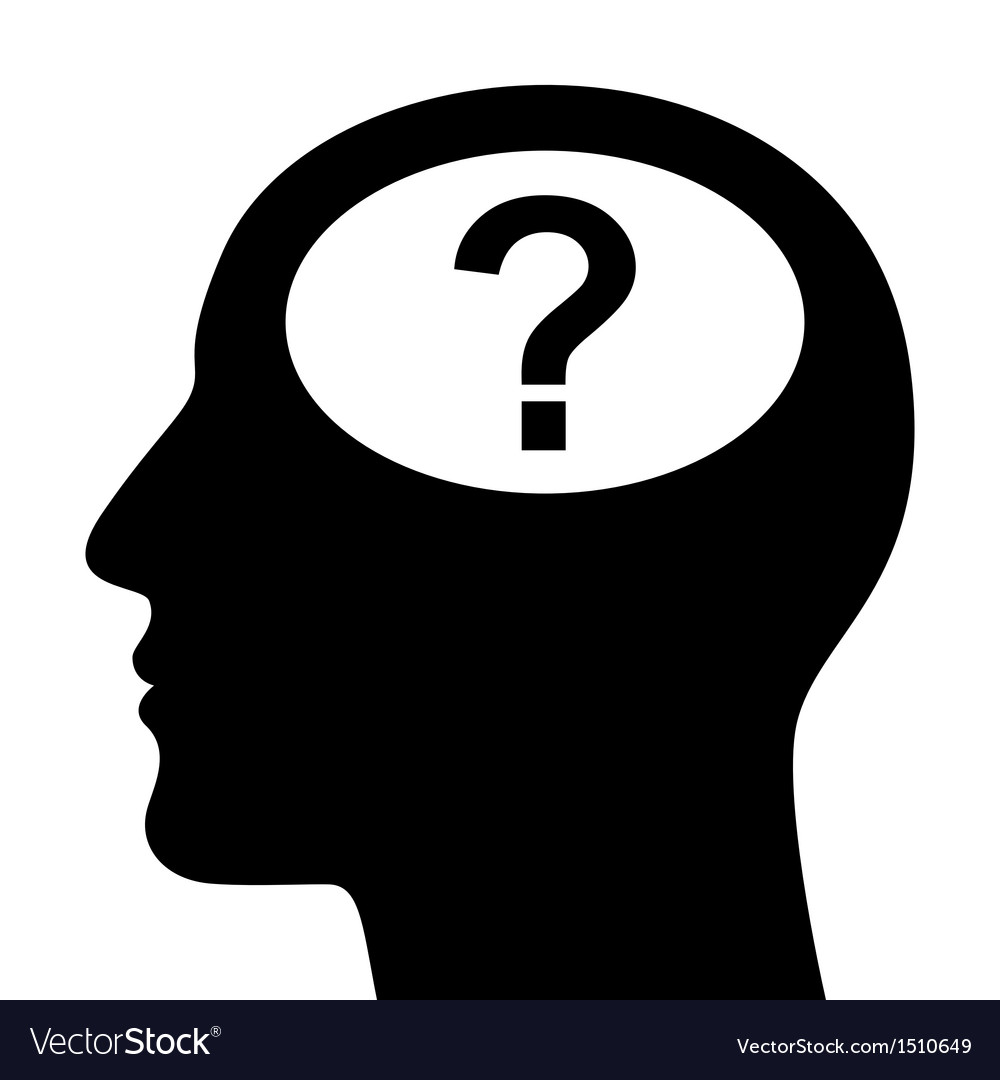 Silhouette of head with question mark vector | Price: 1 Credit (USD $1)