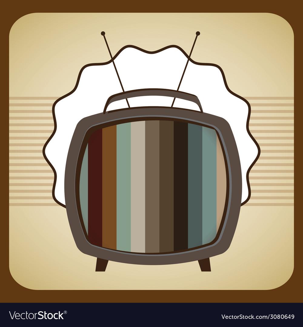 Tv old design vector | Price: 1 Credit (USD $1)